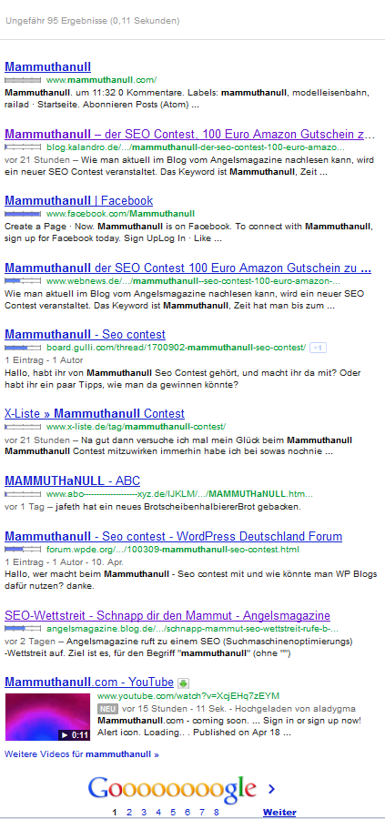 MammuthaNull Screenshot vom 19.04.2012