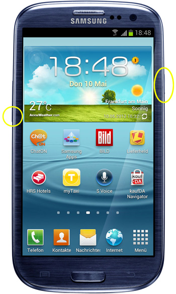 So erstellt man einen Screenshot mit dem Samsung Galaxy S 3
