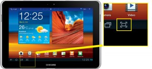 Samsung Galaxy Tab 10.1N Screenshot machen